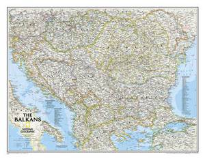 The Balkans Classic, Tubed: Wall Maps Countries & Regions