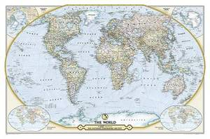 National Geographic Society 125th Anniversary World Map Folded And Poly-bagged: Wall Maps Countries & Regions