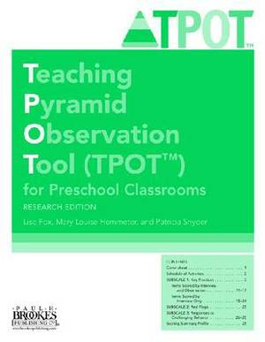 Teaching Pyramid Observation Tool (TPOT (TM)) for Preschool Classrooms Set