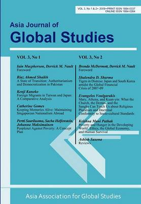 Asia Journal of Global Studies: Vol. 3, Nos. 1 and 2
