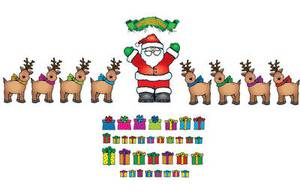 Santa 'n Reindeer Bulletin Board Set