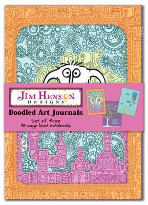 Jim Henson Designs: Doodled Art Journals: Set of Three 48-Page Blank Notebooks