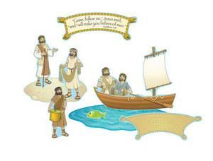 Fishers of Men Mini Bulletin Board Set