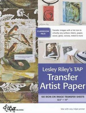 Leslie Riley's TAP Transfer Artist Paper Classroom Pack: 100 Iron-On Image Transfer Sheets 8.5  X 11