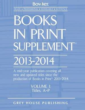 Books in Print Supplement: 2013/14