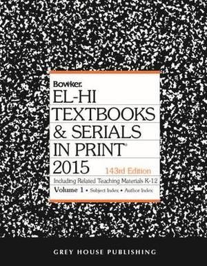 El-Hi Textbooks & Serials in Print: 2014