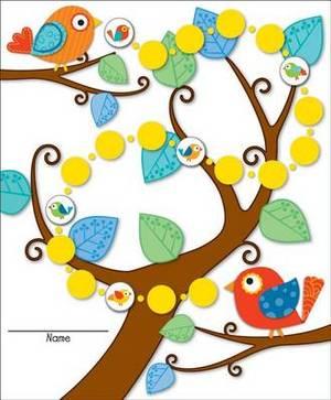 Boho Birds Mini Incentive Charts