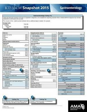 ICD-10-CM 2015 Snapshot Card - Gastroenterology
