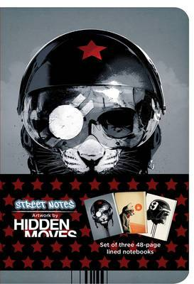 Street Notes by Hidden Moves: Set of Three 48 Page Small Notebooks