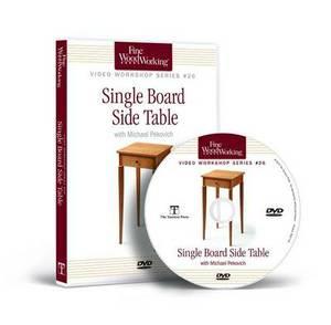 Fine Woodworking Video Workshop Series - Single Board Side Table