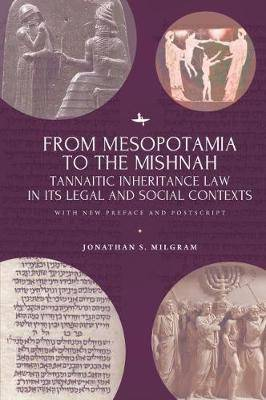 From Mesopotamia to the Mishnah: Tannaitic Inheritance Law in its Legal and Social Contexts