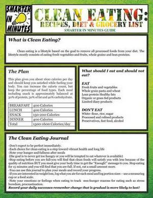 Clean Eating: Recipes, Diet & Grocery List