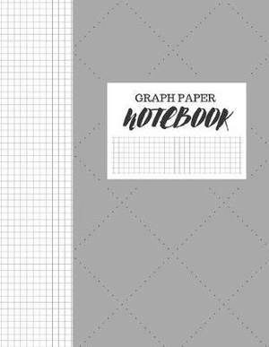 Graph Paper Notebook: FAUX STITCHED GREY FABRIC DESIGN COVER - GRAPHING COMPOSITION WORKBOOK NOTEBOOK 8  X 11  5x5 Grid Paper 130 PAGES