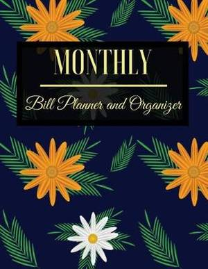 magrudy com monthly bill planner and organizer floral design