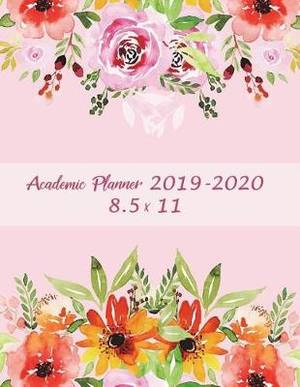 Academic Planner 2019-2020 8.5 X 11: Pink Color Book, Two Year Academic 2019-2020 Calendar Book, Weekly/Monthly/Yearly Calendar Journal, Large 8.5 X 11 Daily Journal Planner, 24 Months Calendar, Agenda Planner, Calendar Schedule Organizer Journal Notebook