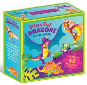 Playful Dragons Floor Puzzle