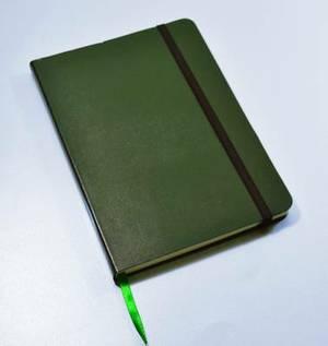 Monsieur Notebook Leather Journal - Green Plain Medium A5