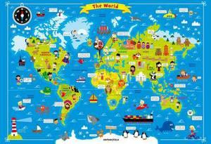 Fun Wall Chart World Map
