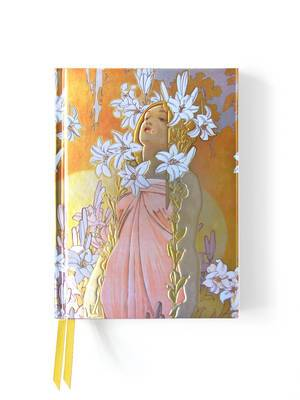 Mucha the Flowers: Lily (Foiled Journal)