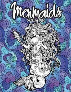 Magrudy.com - Mermaids Coloring Book: Beautiful Mermaid Girls ...