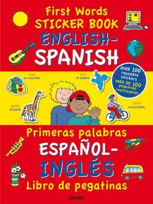 First Words Sticker Book: English - Spanish