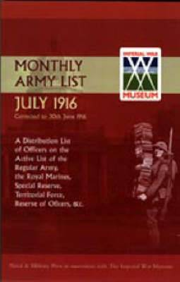 Monthly Army List. July 1916