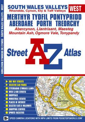 South Wales Valleys (west) Street Atlas