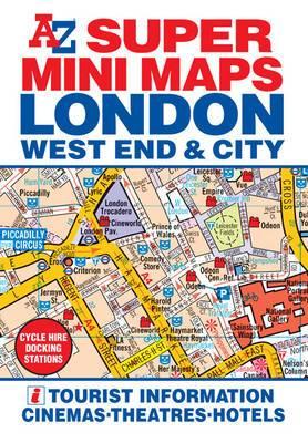 A-Z Super Mini Map: London West End & City: 2012