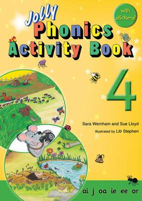 Jolly Phonics Activity Book 4: In Precursive Letters (British English edition)