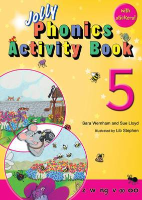 Jolly Phonics Activity Book 5: In Precursive Letters (British English edition)