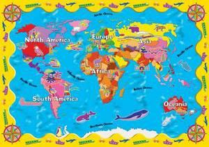 World Map Desk Protector