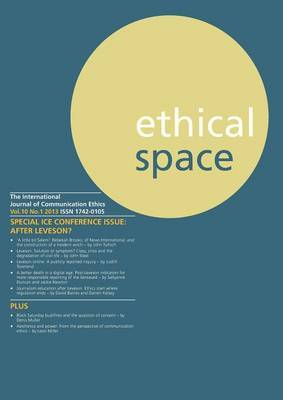 Ethical Space Vol.10 Issue 1