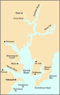 Imray Chart Y58: Falmouth to Truro