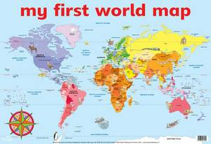 Magrudy Com My First World Map Wall Chart