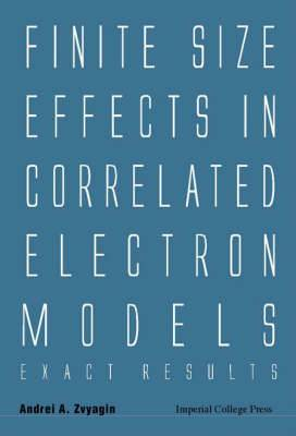 Finite Size Effects In Correlated Electron Models: Exact Results