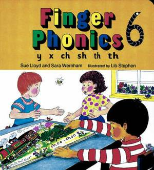 Finger Phonics book 6: in Precursive Letters (British English edition)