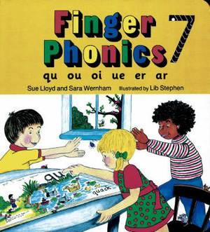 Finger Phonics book 7: in Precursive Letters (British English edition)