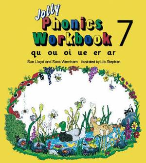 Jolly Phonics Workbook 7: qu, ou, oi, ue, er, ar