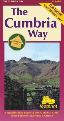 The Cumbria Way: A Footprint Map-Guide to the 73-Mile Route Between Ulverston & Carlisle