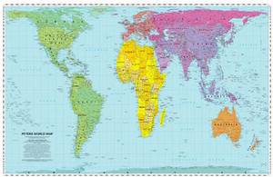 Peters World Map: Folded: 1995