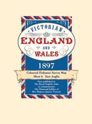 East Anglia - Coloured Victorian Map 1897