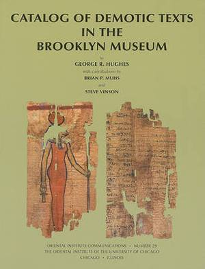 Catalog of Demotic Texts in the Brooklyn Museum of Art