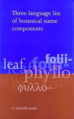 Three-Language List of Botanical Name Components
