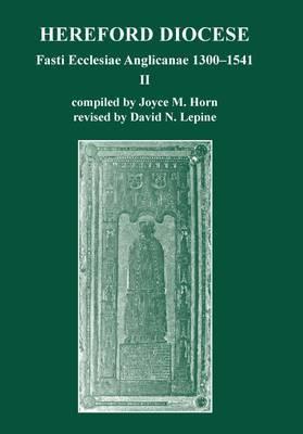 Fasti Ecclesiae Anglicanae 1300-1541: Hereford Diocese: II