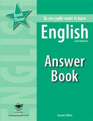So You Really Want to Learn English Book 3 Answer Book