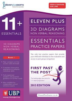 11+ Essentials 3D Non-Verbal Reasoning Practice Papers for CEM: Book 1