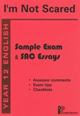 I'm Not Scared: 2005: Sample Exams and SAC Essays: Year 12 English
