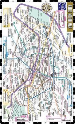 Streetwise Paris Metro Map - Laminated Paris Subway Rer Map for Travel - Pocket Size