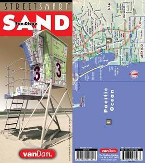 Streetsmart San Diego Map by Vandam
