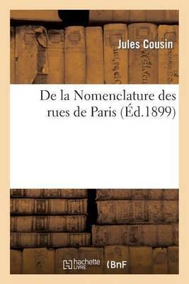 de La Nomenclature Des Rues de Paris